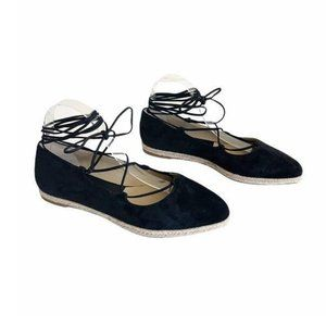 Michael Kors Collection Cadence Suede Wrap Flat